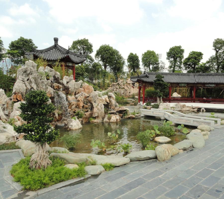 中式景园效果展示