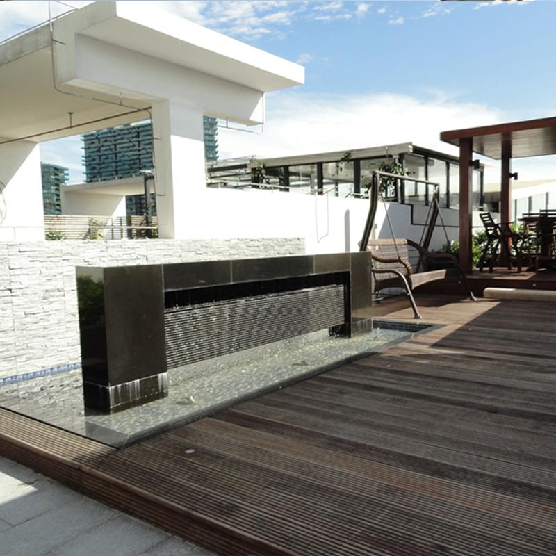 花园小型天台竣工效果展示